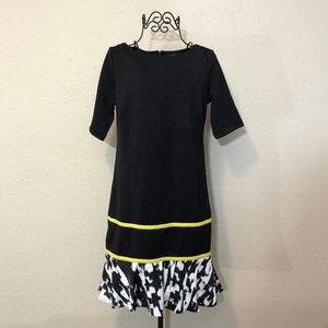nicole by Nicole Miller Sleeved Dress with Ruffle